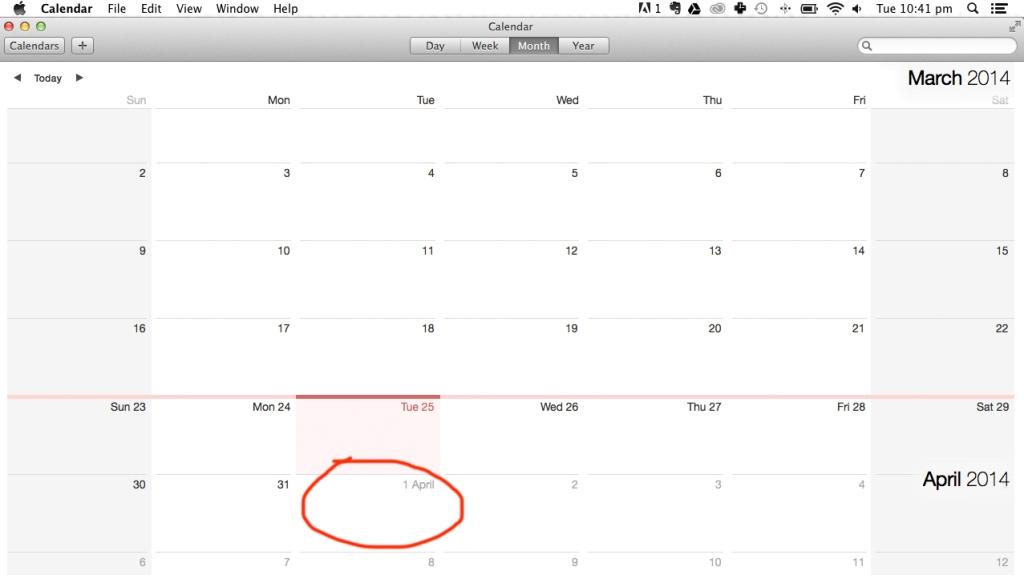 2nd Quarter Calendar