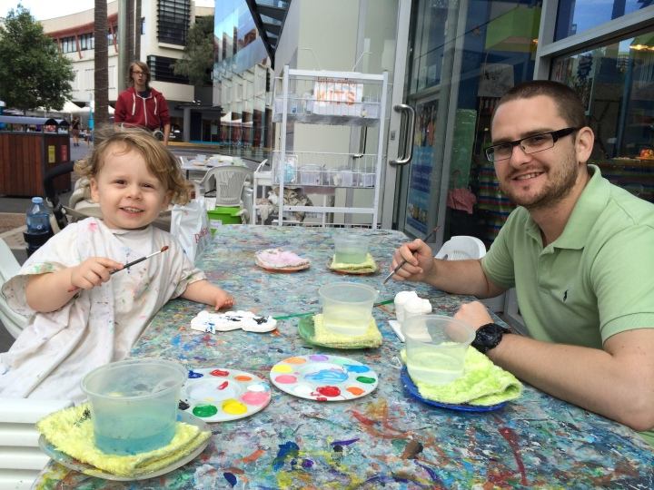 Plaster Painting with My Son...