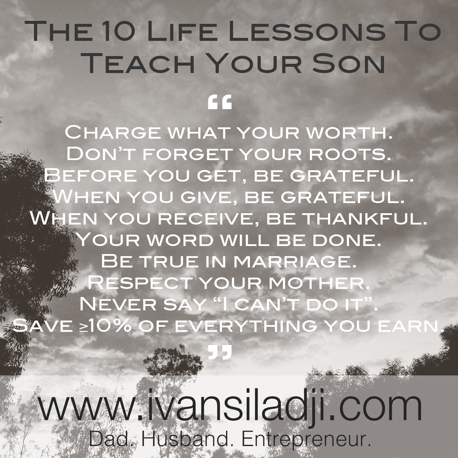 Watch Lessons your Father teaches you for a Healthy Life video