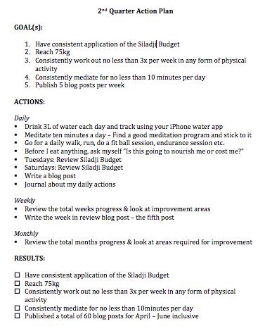 Quarter 2 action plan