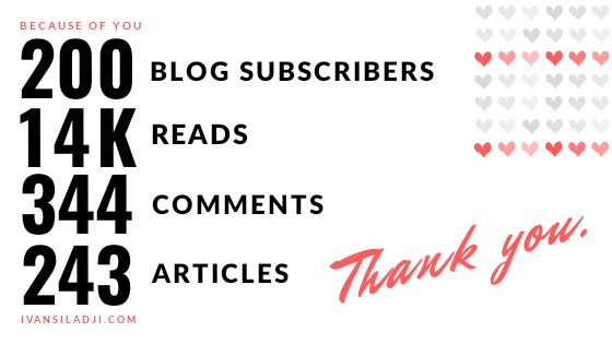 You are subscribed as one of my 200 readers!